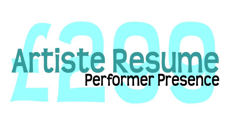 Artiste CV Performer Presence